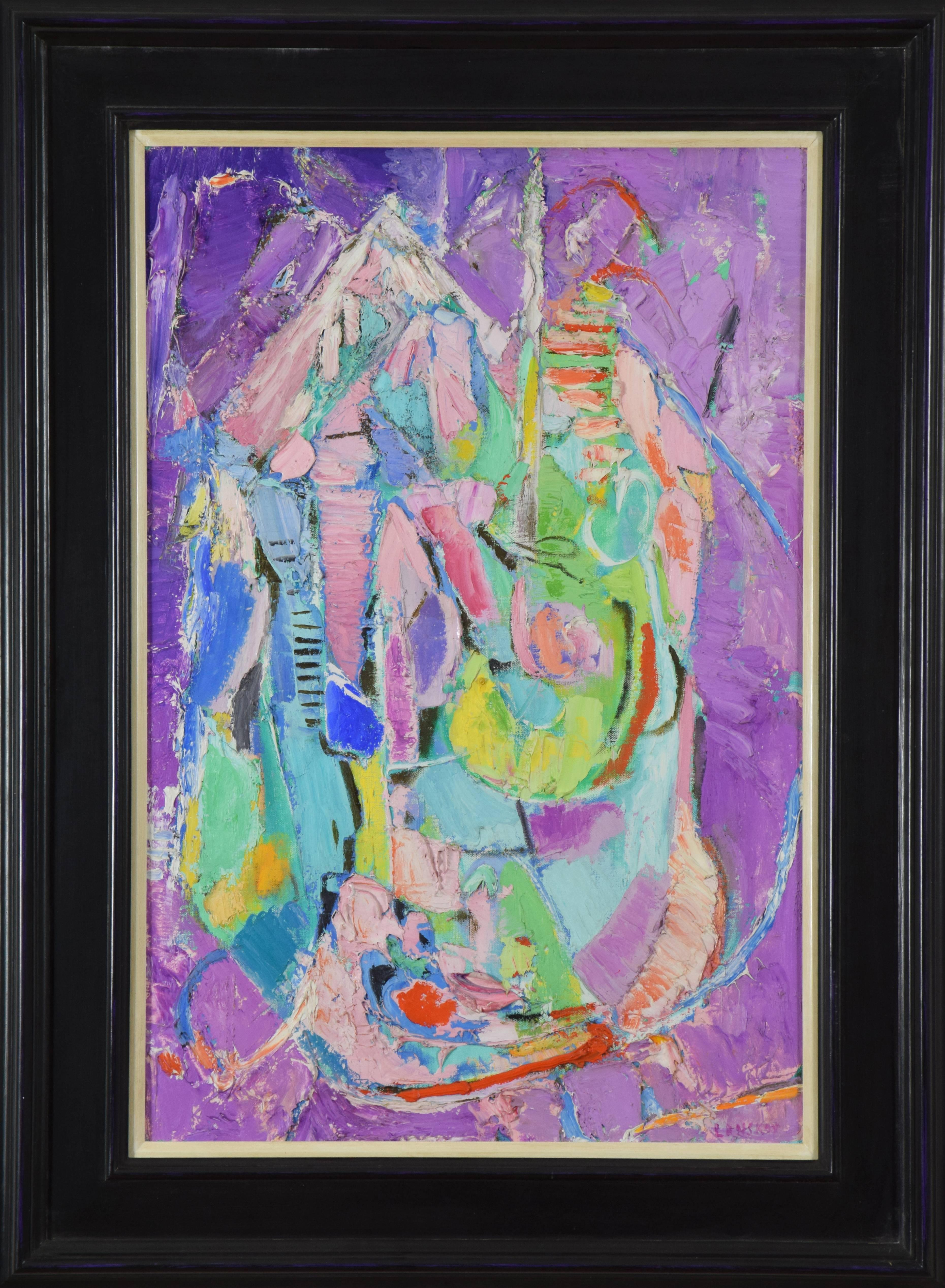Composition by ANDRÉ LANSKOY - Abstract painting, colourful art