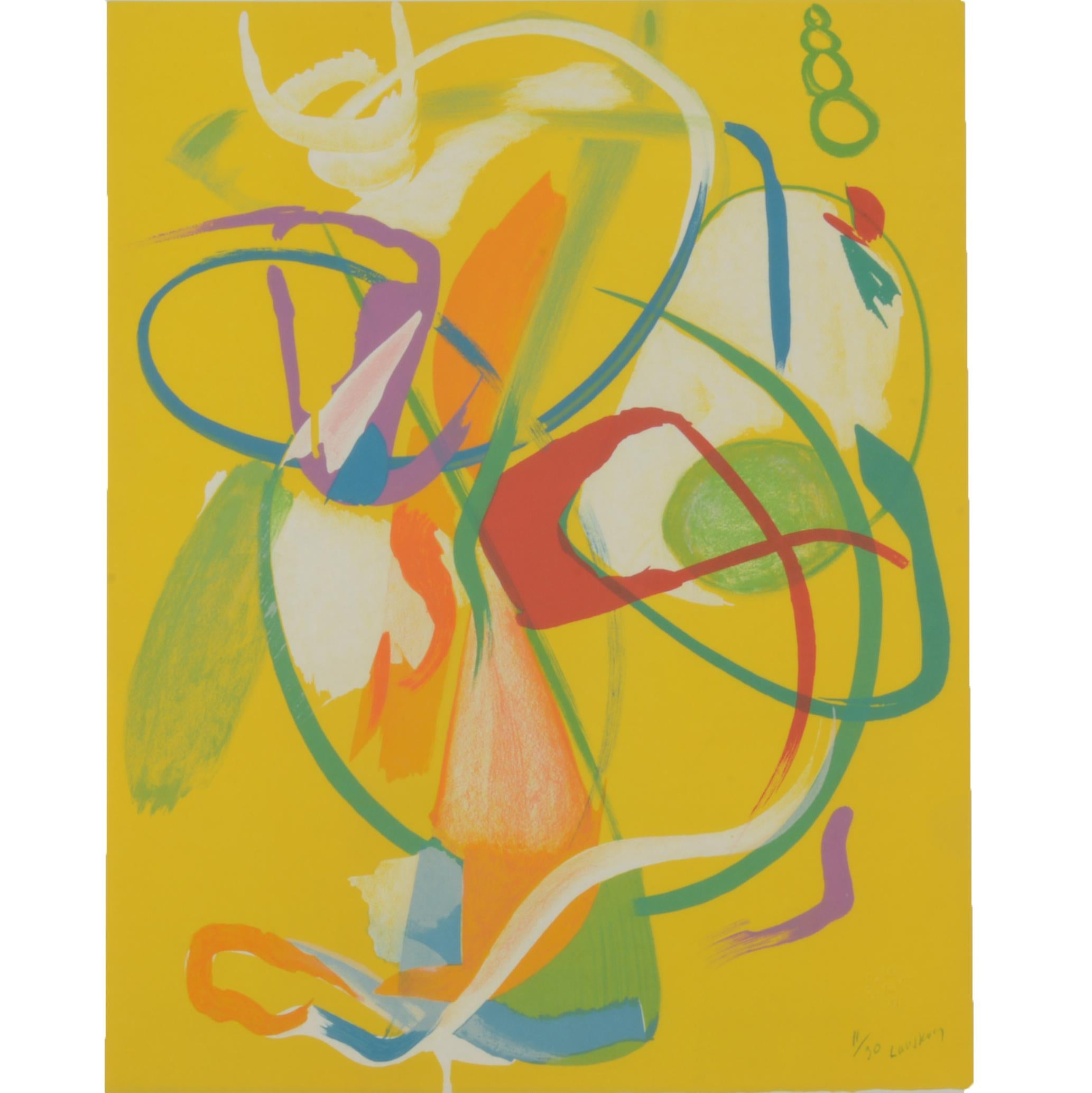 Andre Lanskoy Abstract Limited Edition Signed Print from La Genese