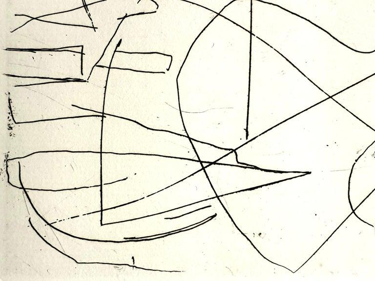 André Lanskoy - Composition - Original Etching For Sale 2
