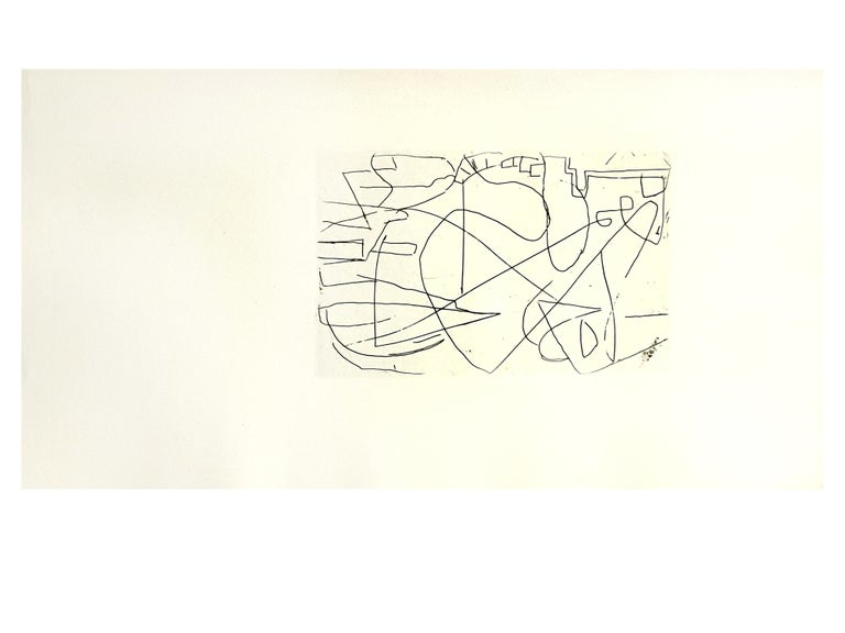 André Lanskoy - Composition - Original Etching For Sale 3