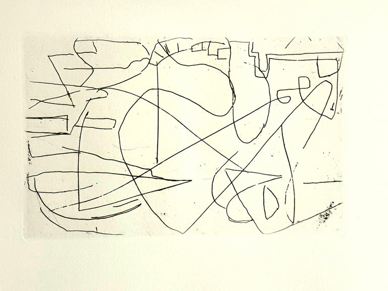André Lanskoy - Composition - Original Etching - Print by André Lanskoy