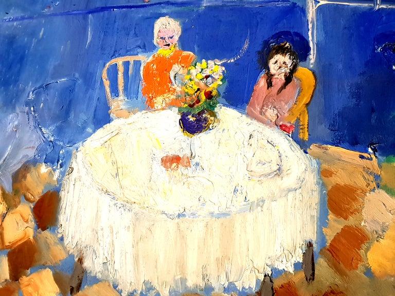 André Lanskoy - Lovers Interior Scene - Original Oil on Canvas 1