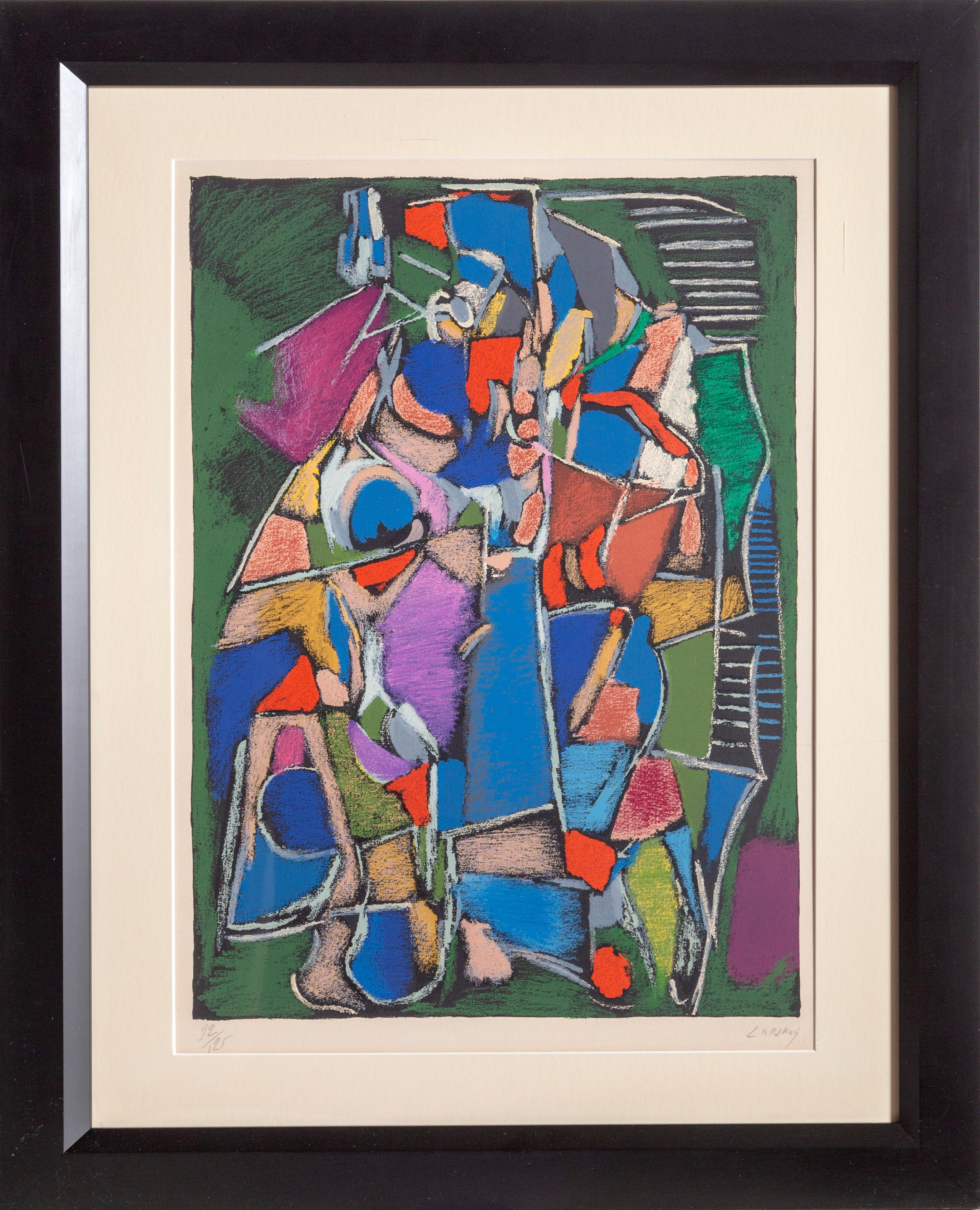 Tachisme, Abstract Modern Lithograph by Andre Lanskoy