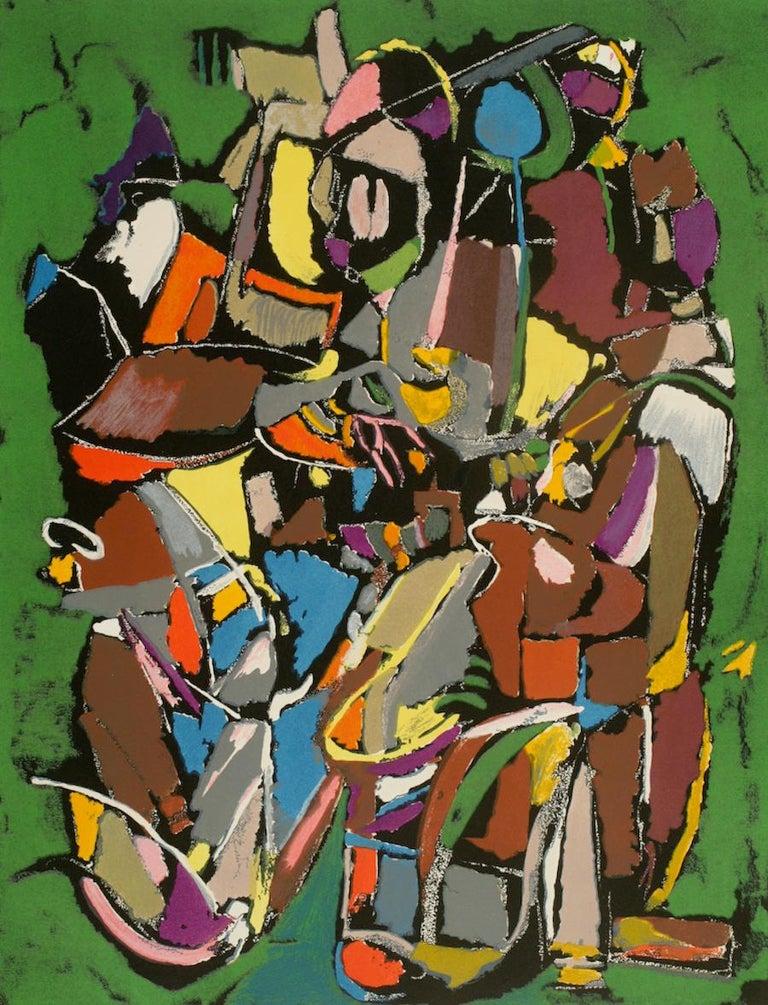 André Lanskoy Abstract Print - Vertical Vert