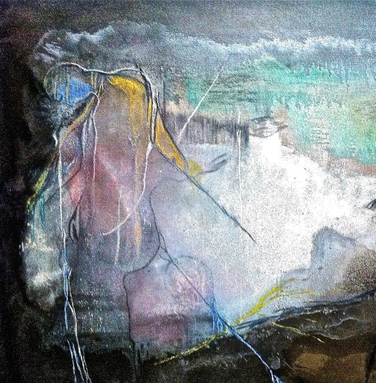 San Frencesco del Deserto - Painting by Andre Laurenti