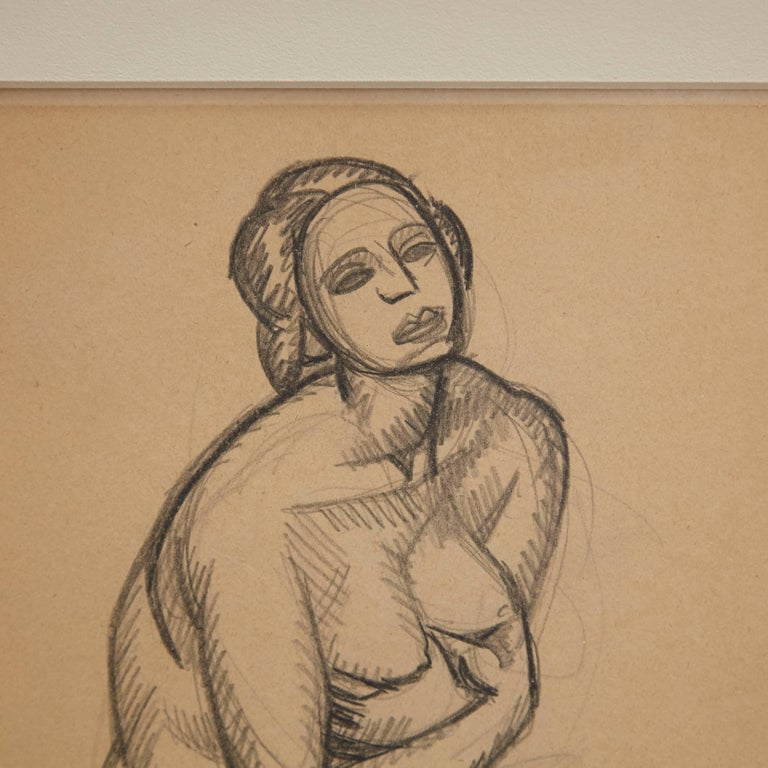 French Andre Lhote Drawing in Pencil For Sale
