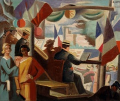 14 juillet en Avignon - André Lhote, french, modern, 14 july, cubist, cubism