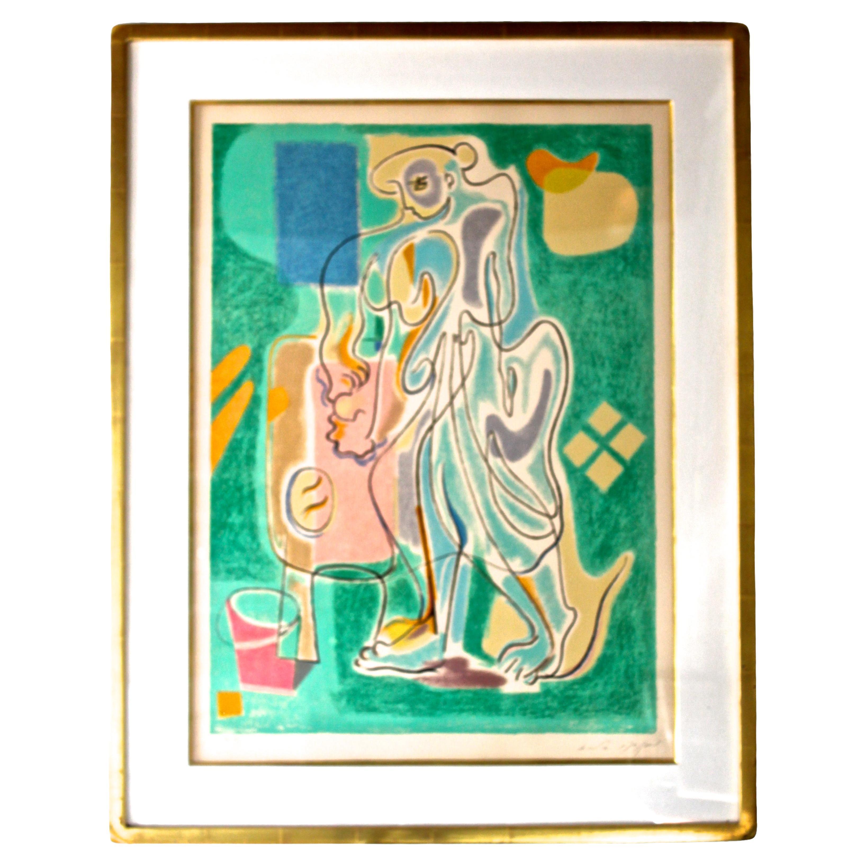 "Andre Masson Framed Lithograph ""La Fabrication du Pain"" 1965"