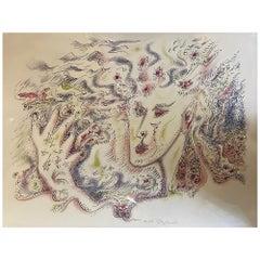 André Masson, Femme II, 1975, Lithograph