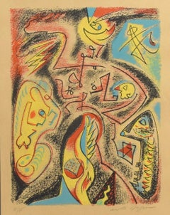 Abstract Composition - Original Lithograph by André Masson - 1970s