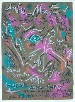 Andre Masson Exposition de ses œuvres récentes 1962-1968 à la Galerie Louise