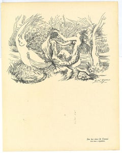 Composition Surrealist - Original Collotype after André Masson - 20th century