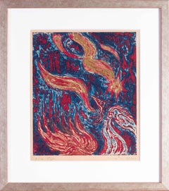 Dedicated lithograph by Andre Masson to his daughter Lily
