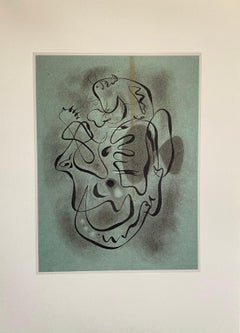 French Abstract Surrealist Color Lithograph Andre Masson
