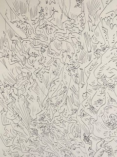 French Abstract Surrealist Lithograph Andre Masson Mourlot Paris Limited Edition