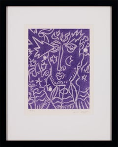 [From La Mysticite... Portfolio] Hand-Signed Etching w/ Aquatint by André Masson