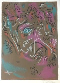 Galerie Louis Leiris - Original Lithograph by André Masson - 1968