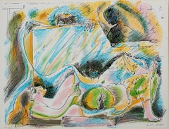 """""""La Naissance D'Eve"""" from """"Je Reve,""""  Color Lithograph signed by Andre Masson"""