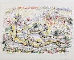 """Le Prince Iris,"" surrealist lithograph from ""Je Reve"" portfolio by Andre Masson"