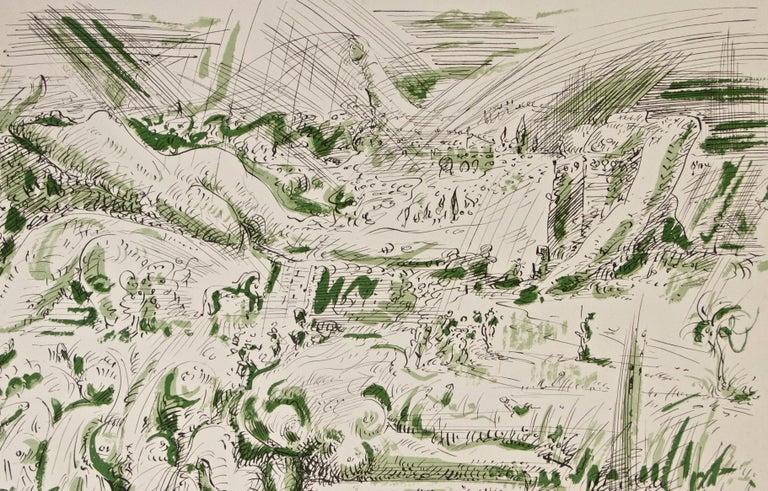 Les Jardins d'Armide - White Print by André Masson