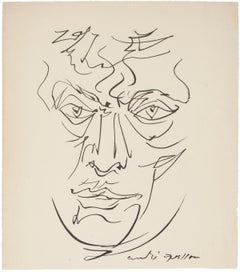 Portrait - Original Lithograph by André Masson - Late 20th Century
