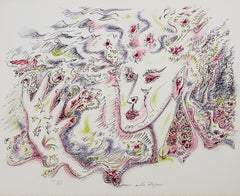"""Satan"" from ""Je Reve"" portfolio, Surrealist Lithograph signed by Andre Masson"