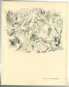Surrealist Composition 3 - Original Collotype after A. Masson - Mid-20th century