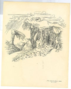 Surrealist Composition 5 - Original Collotype after A. Masson - Mid-20th Century