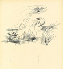 Surrealist Composition 8 - Original Collotype after A. Masson - Mid-20th Century