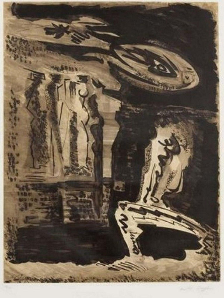 André Masson Abstract Print - The guardians of Silence I