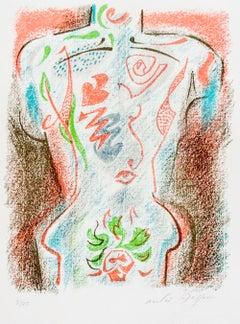 Torse Tatoué - Original Lithograph by André Masson - 1940s