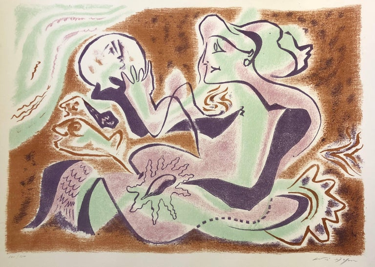 Hand signed and numbered in the lower margin. Edition of 150 prints. André Masson was a French artist, well-known as part of the Surrealism. He was a painter but also a sculptor and printmaker. His work of printmaking is mainly related to the book