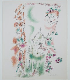 """Venise en Fleurs"" from ""Je Reve,"" Surrealist Lithograph signed by Andre Masson"