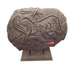 Cheval Effrayé par le Sang - Original Bronze Sculpture by André Masson - 1987
