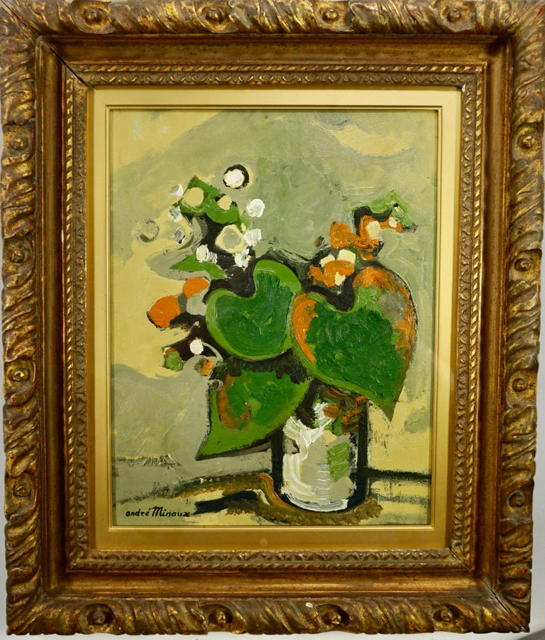 Untitled Still Life: Floral Arrangement  - Painting by André Minaux