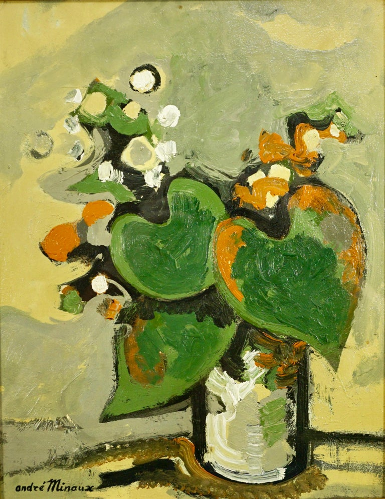André Minaux Still-Life Painting - Untitled Still Life: Floral Arrangement