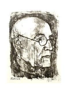 Andre Minaux - Portrait - Original Lithograph