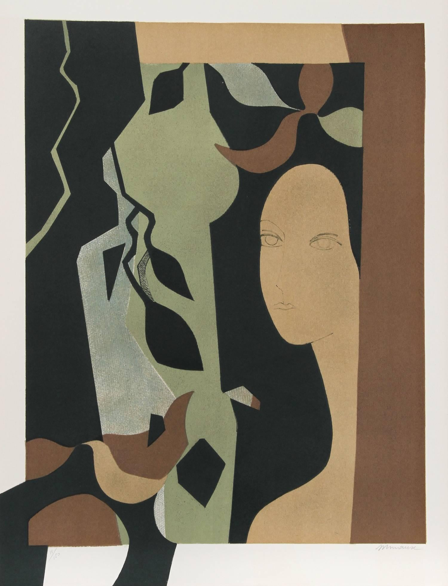 """""""Helene from the Helene Portfolio"""" Lithograph by Andre Minaux"""
