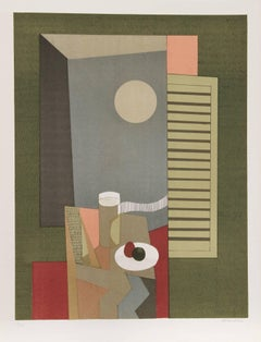 Linge, Modern Interior Lithograph by Andre Minaux