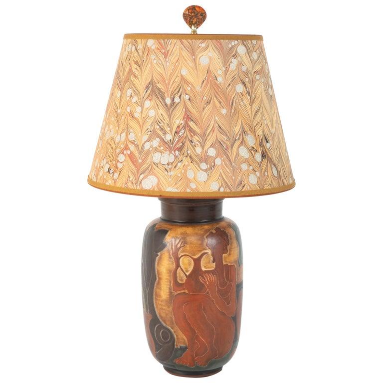 Andre Plantard, Sèvres Porcelain Vase now a Lamp For Sale