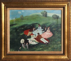 Picnic in May by Andre Racz (After Pal Szinyei Merse)