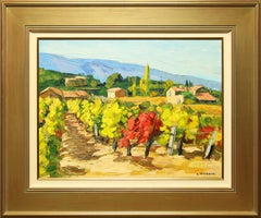"""Vignes D' Automne"" 23 x 31 inch Oil on Canvas by Andre Roubaud"
