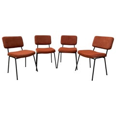 André Simard Set of 4 Chairs, 1960