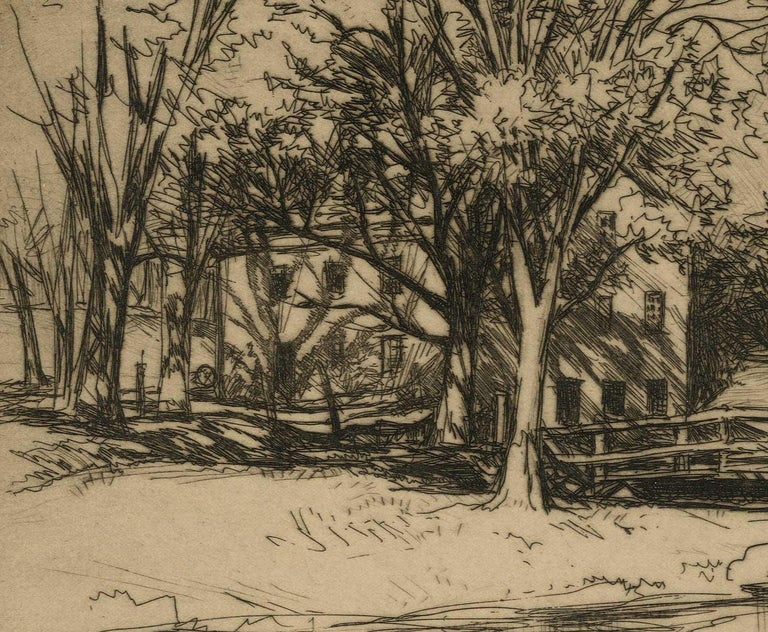 The Haunted House  ( this peaceful landscape belies the name of the piece) - Print by André Smith