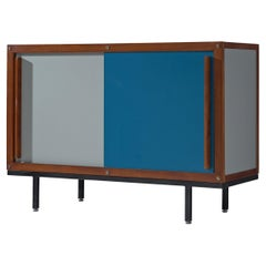 Andre Sornay Bicolored Sideboard with Sliding Doors