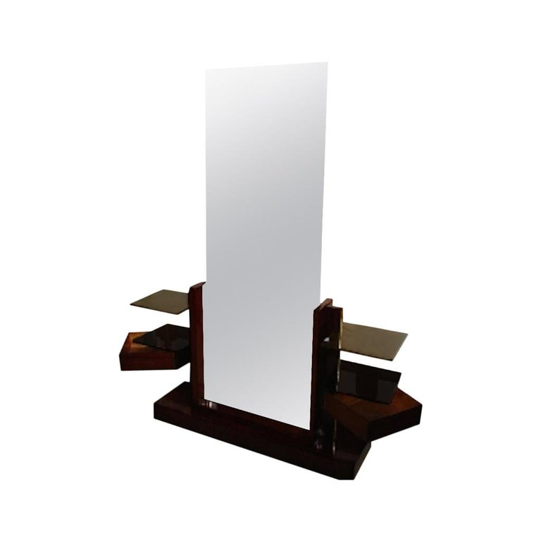 André Sornay Dressing Table with Large Mirror, circa 1930 For Sale