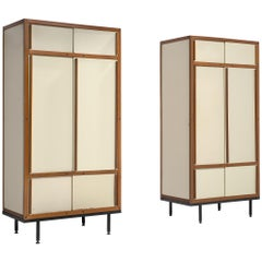 André Sornay Pair of Cabinets in Mahogany