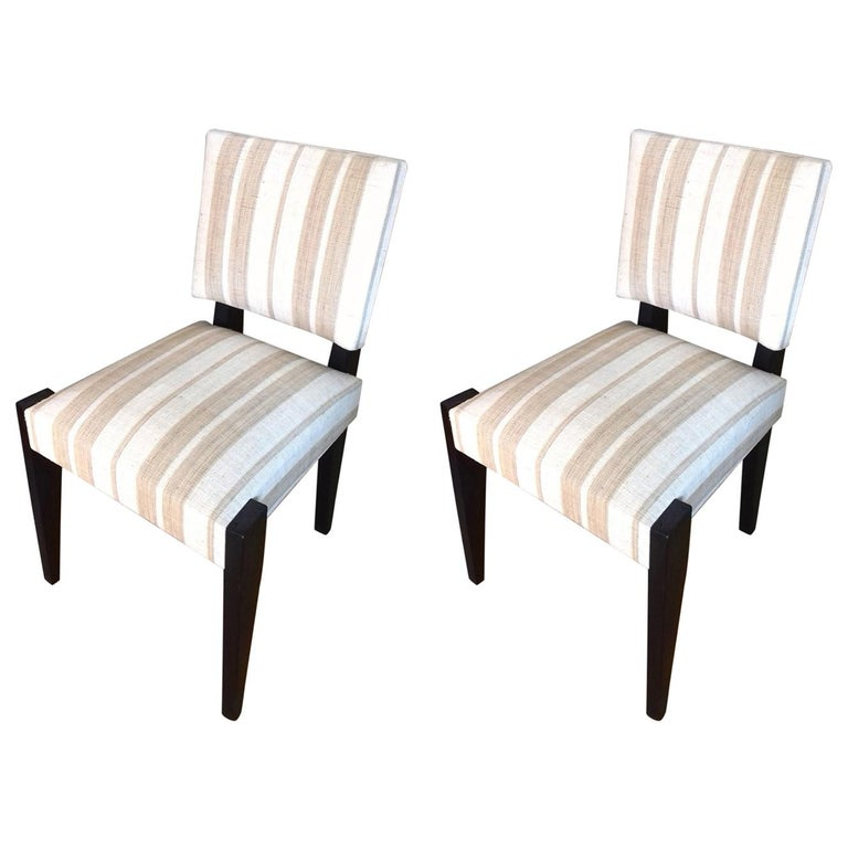 André Sornay Pair of Chairs, circa 1930 For Sale