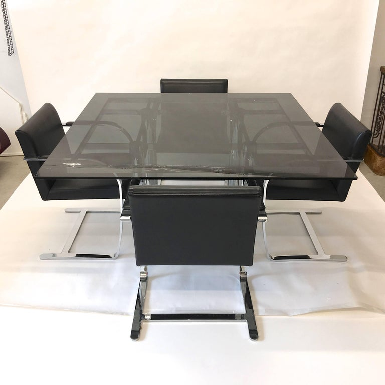 'Andre' Square Dining Table by Tobia Scarpa for Knoll For Sale 3