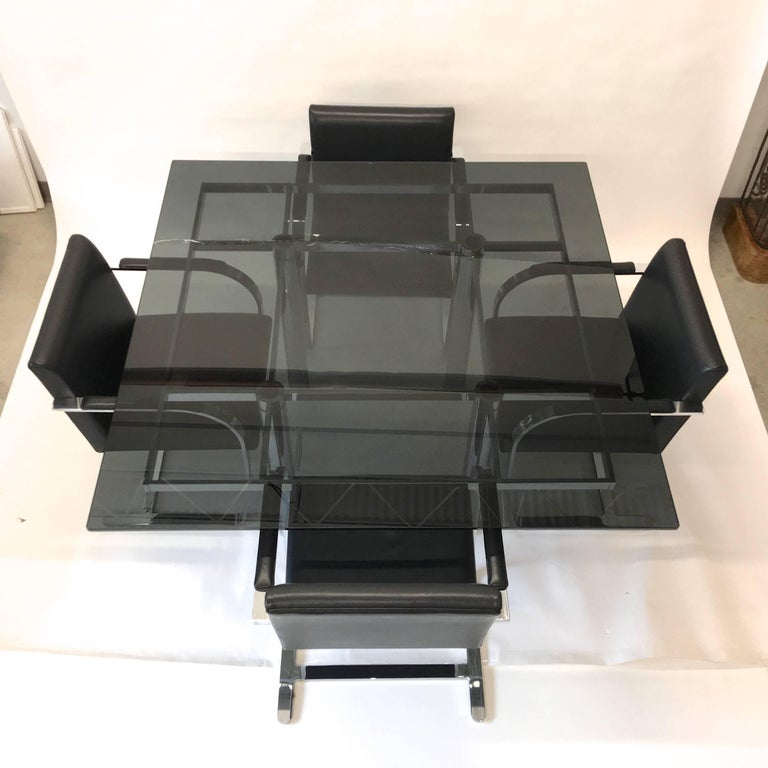 Mid-Century Modern 'Andre' Square Dining Table by Tobia Scarpa for Knoll For Sale